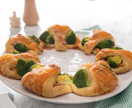 Croissants au brocoli